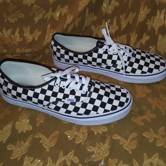 vans authentic black & white checkered skate shoes